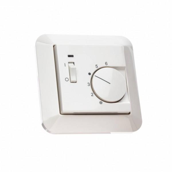 Raumthermostat für Merten System M mit Schalter Ein/Aus