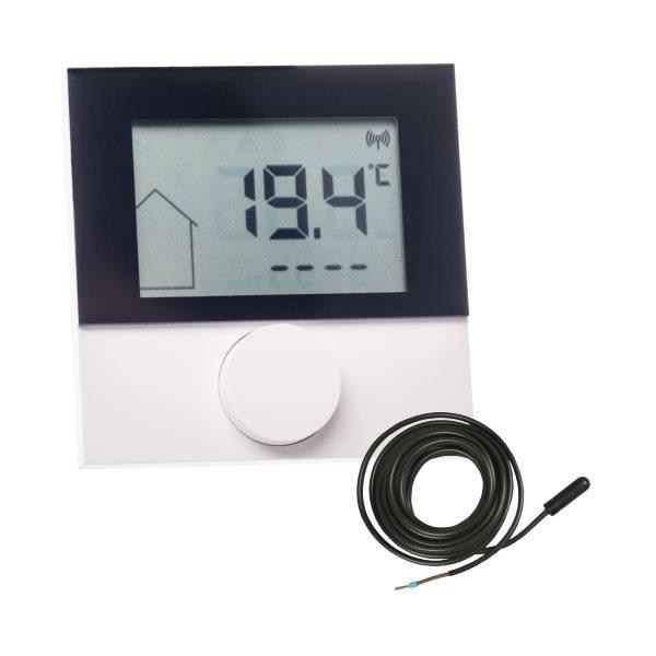 Funk Raumthermostat digital Alpha 2 LCD mit Fernfühler