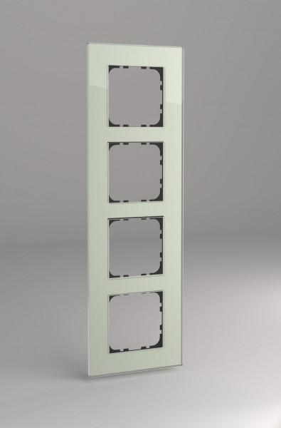 Glasrahmen für 55er Steckdosen und Schalter 4-fach mint