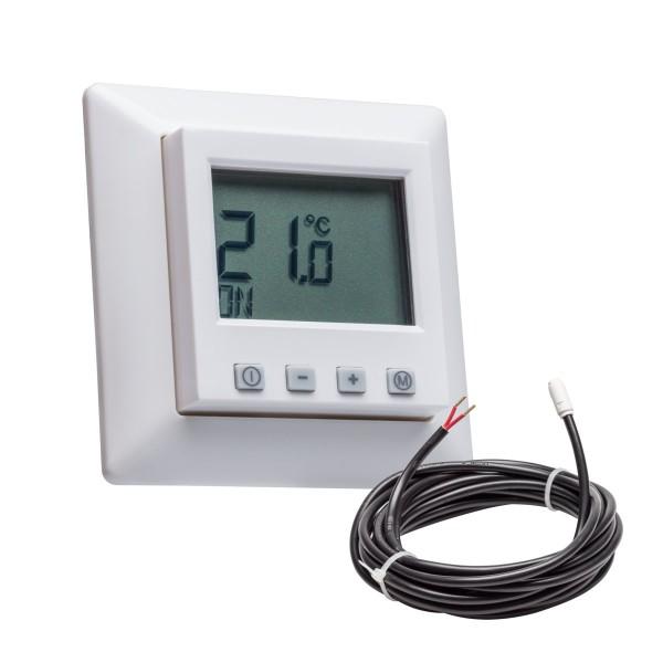 Fußbodentemperaturregler mit Jung AS 500 Rahmen inkl. Bodenfühler