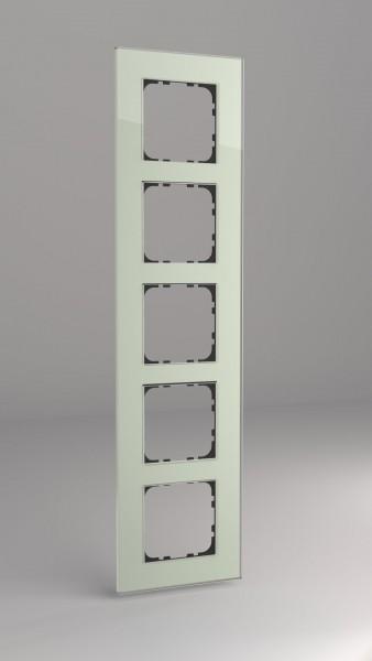 Glasrahmen für 55er Steckdosen und Schalter 5-fach mint