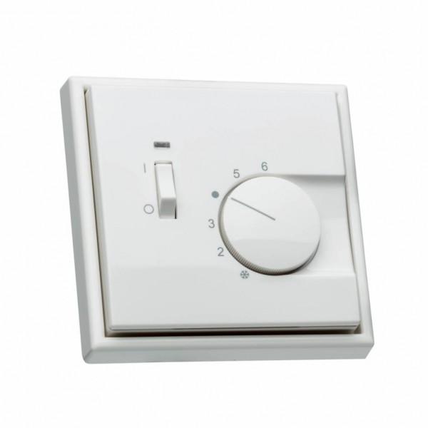 Raumthermostat für Jung LS990 mit Schalter Ein/Aus Rahmen