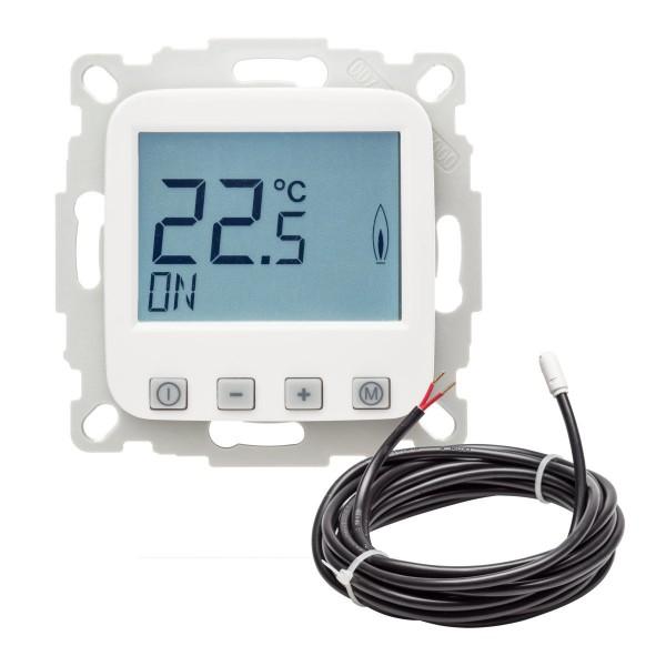 Fußbodentemperaturregler EFK-1UF mit Uhr inkl. Bodenfühler