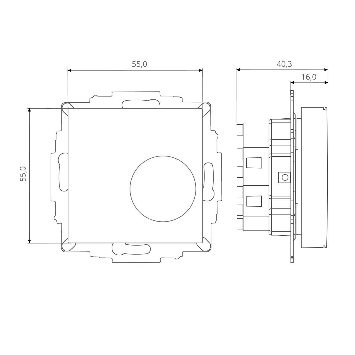 öffner Merten 1-M Rahmen aktivweiß für Fußbodenheizung Raumthermostat inkl