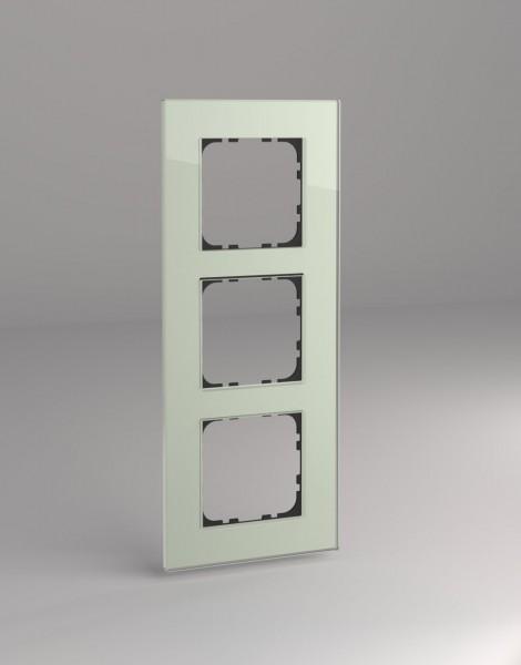 Glasrahmen für 55er Steckdosen und Schalter 3-fach mint