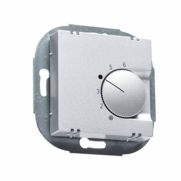 Raumthermostat FTR 101.000 aluminium glanz für Jung Serie A Rahmen