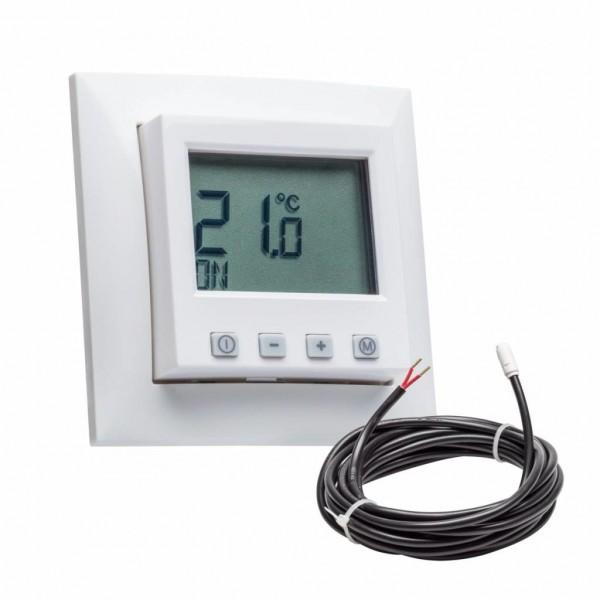 Fußbodentemperaturregler mit Berker S.1 Rahmen inkl. Bodenfühler
