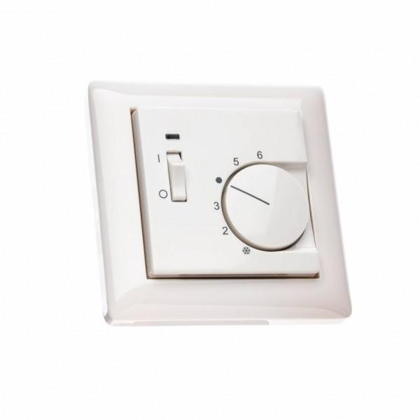Raumthermostat für Gira Standard 55 mit Schalter Ein/Aus