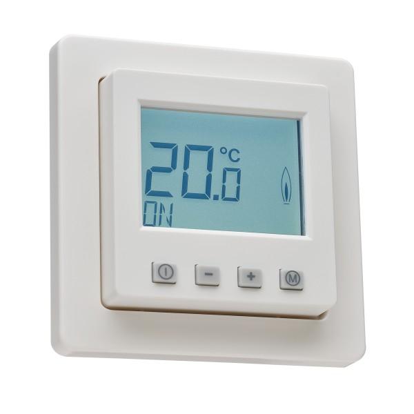 Raumthermostat digital mit Uhr für Berker Q.1/Q.3/Q.7 Rahmen