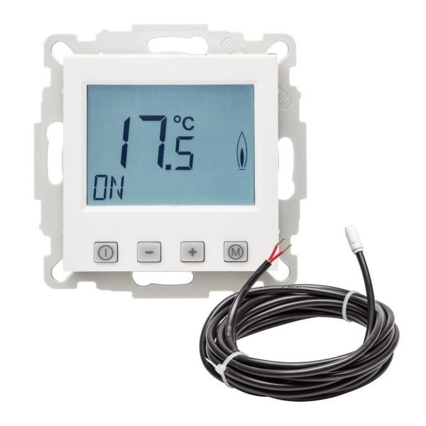 Fußbodentemperaturregler EFK-55 mit Uhr inkl. Bodenfühler