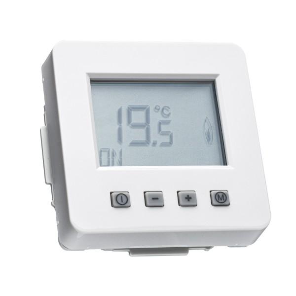 Raumthermostat ERK-67 mit Uhr für Jung CD 500 Rahmen