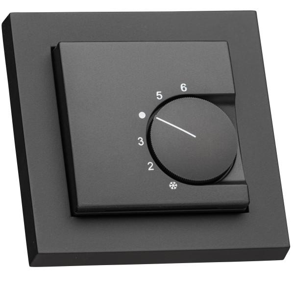 Raumthermostat für Gira E2 schwarz