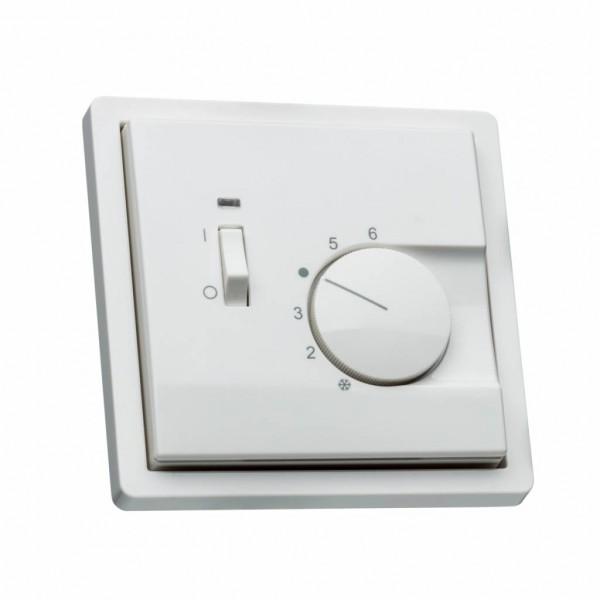 Raumthermostat für Gira Flächenschalter mit Schalter Ein/Aus Rahmen