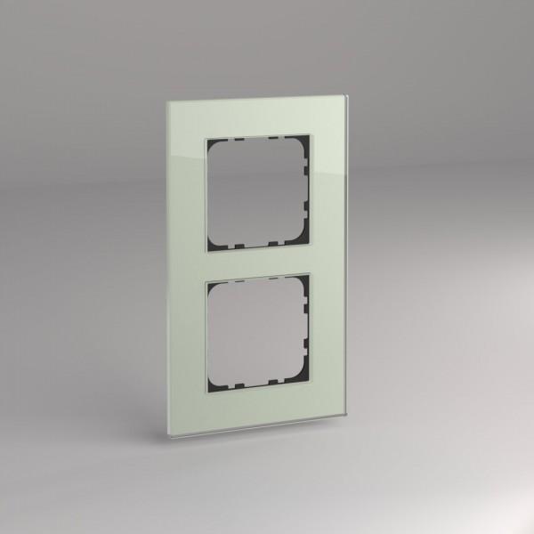 Glasrahmen für 55er Steckdosen und Schalter 2-fach mint